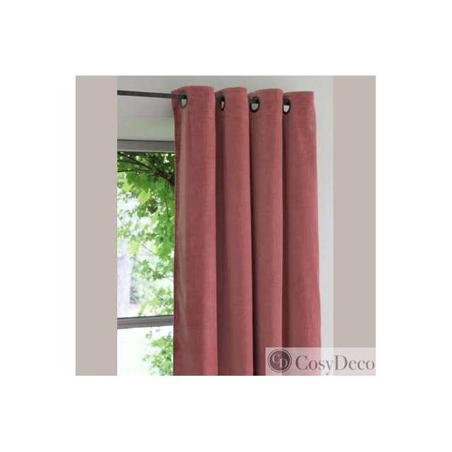 rideaux velours vieux rose boutique d co en ligne cosy d co. Black Bedroom Furniture Sets. Home Design Ideas