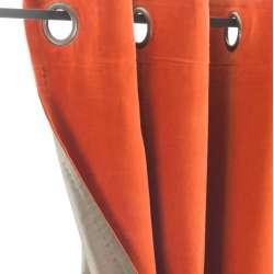 Rideaux Velours Orange