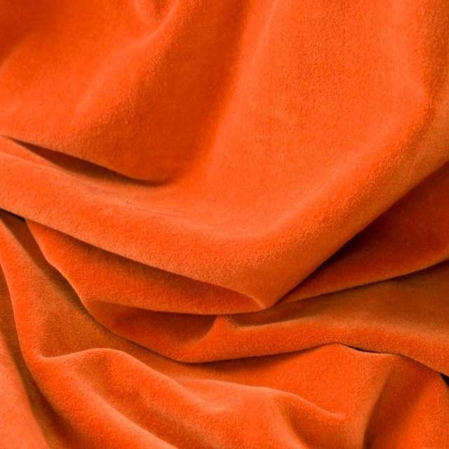 Rideau velours orange