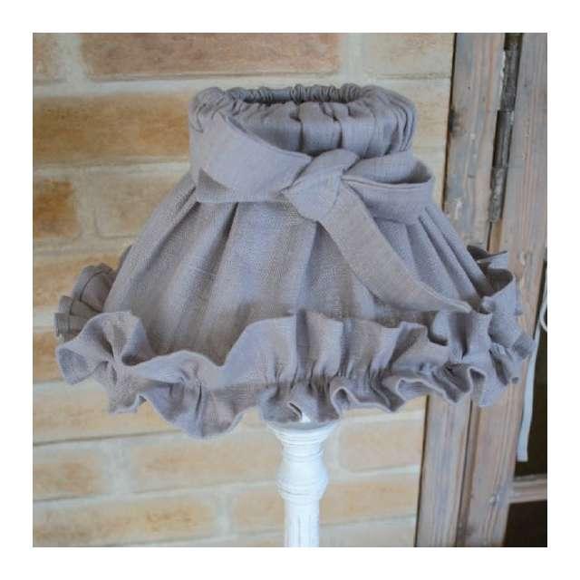 abat-jour-froufrou gris