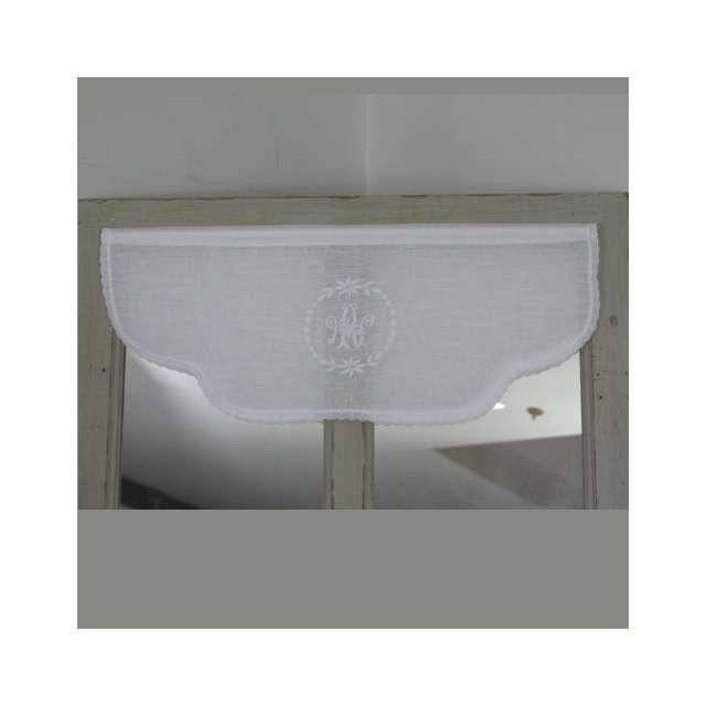 Cantonniere Lin Blanc Deco de Charme sur-mesure