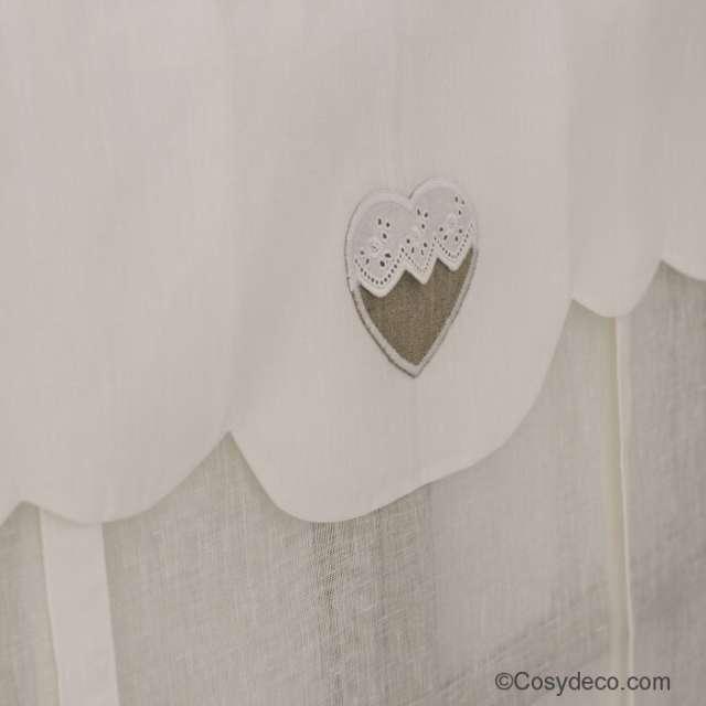 Store coeur dentelle brodé décoration