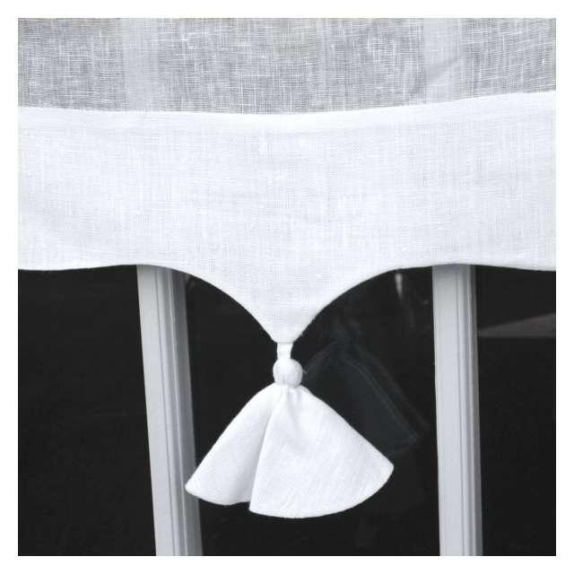 Brise-bise Lin Blanc Monogramme sur Mesure Marguerite