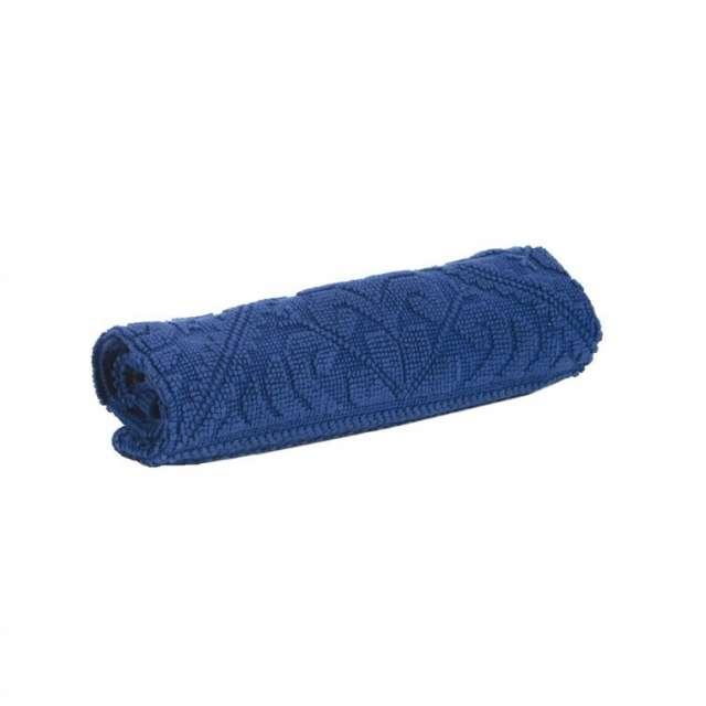 Tapis de bain bleu style hammam