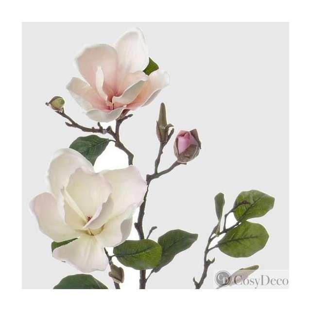 Branche de Magnolia Pastel Crème Fleurs Artificielles