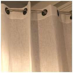 Rideau Lin Blanc Sur-mesure Oeillets