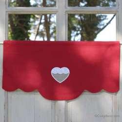 Cantonniere Deco Cuisine Rouge Coeur
