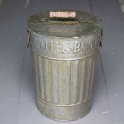Poubelle retro deco zinc WC Salle de Bain - Antic Line