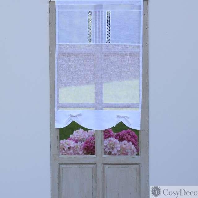 Brise Bise Sur-Mesure Lin Blanc Modèle Rose