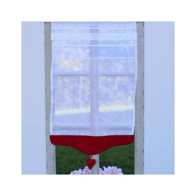 Brise-Bise Cosy Coeur rouge Décoration fenêtre