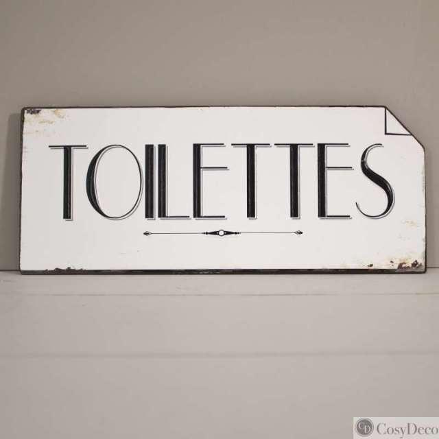 Plaque Toilettes Vintage