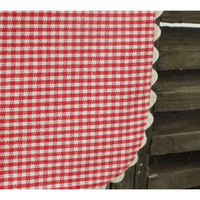 Valance Cantonniere rouge vichy