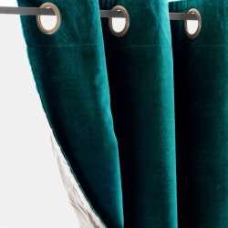 Rideau Velours Vert Paon