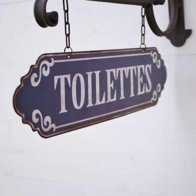 Plaque murale Toilettes brocante