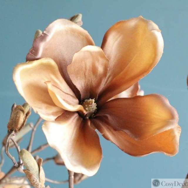 Branche de Magnolia Mordorée Artificielle