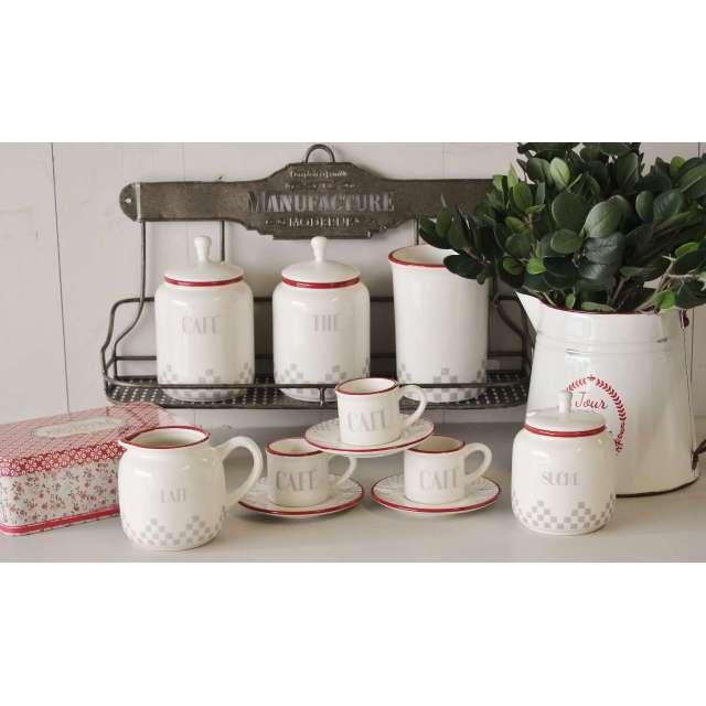 Pot à Café Damier Comptoir de Famille