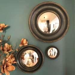 Les Miroirs Sorcière bois noir