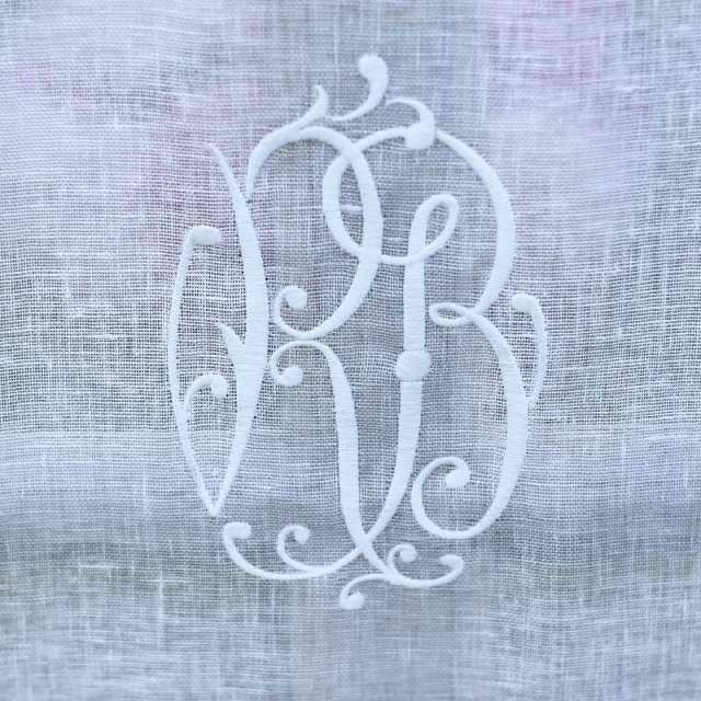 Brise-bise Lin Monogramme Dimensions au choix