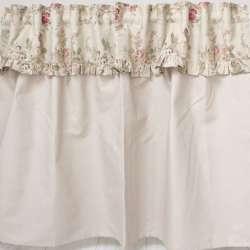 Rideau sous-evier sur-mesure beige fleuri style Anglais
