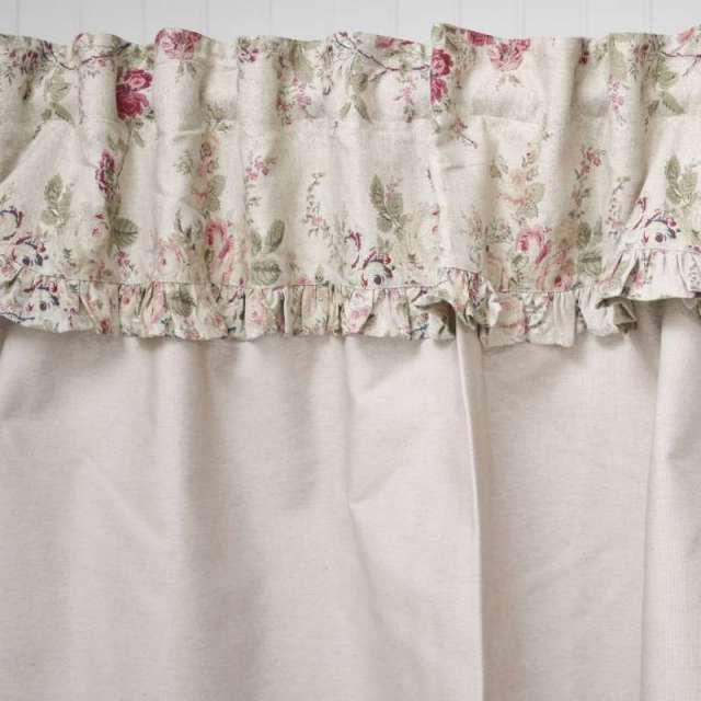 Rideau sous-evier beige fleuri style Anglais