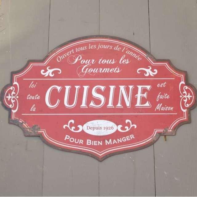Plaque métallique Cuisine Style Rétro deco