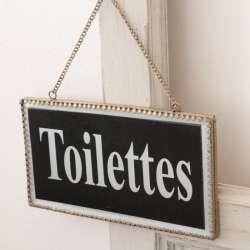 Plaque Toilettes Rétro Chic Chehoma