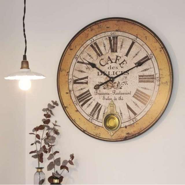 Grande Horloge avec balancier Vintage