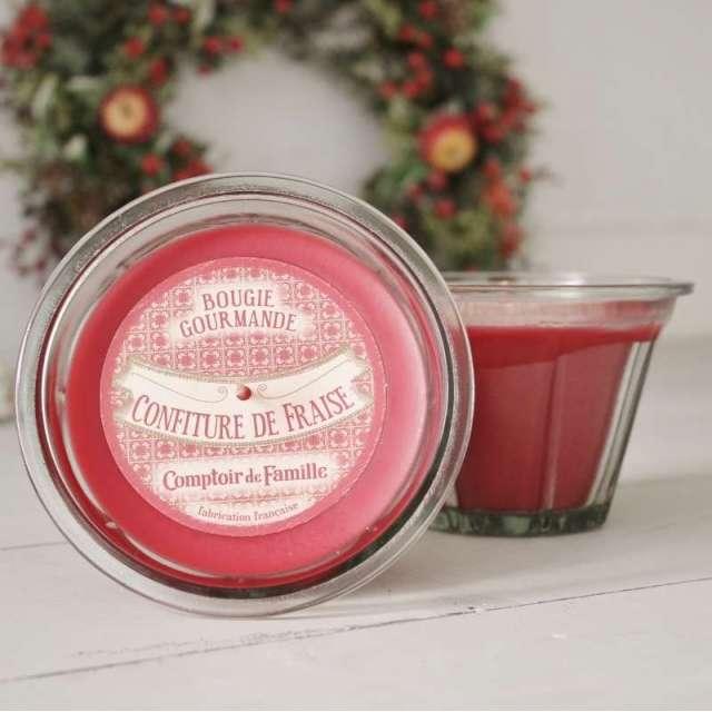 La Bougie parfumée Confiture de fraise Comptoir de Famille