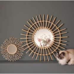 Miroir Soleil Rotin naturel Chehoma