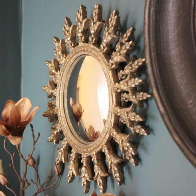 Miroir Soleil Baroque Doré Chahoma Décoration