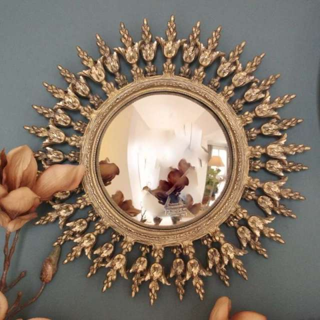 Miroir Soleil Baroque Doré Chehoma