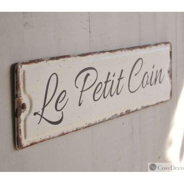 Plaque de Porte Petit coin Style Rétro vintage