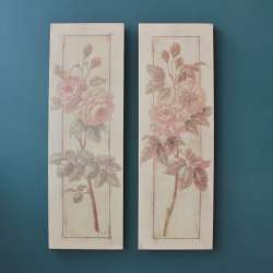 Tableaux deco rose Antic Line Deco Charme