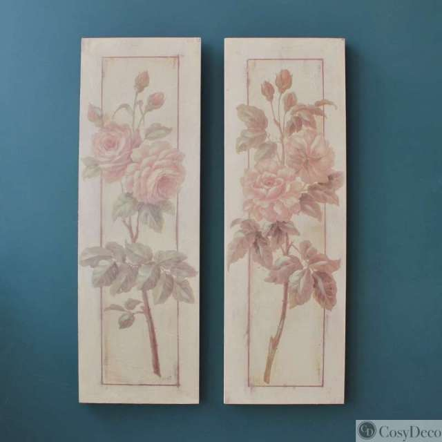 Tableaux Roses anciennes Charme