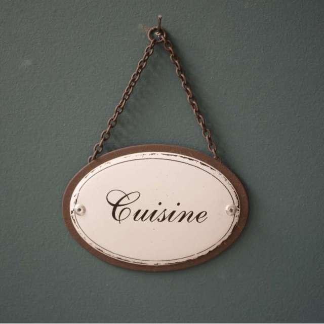 Plaque de Porte Cuisine brocante vintage