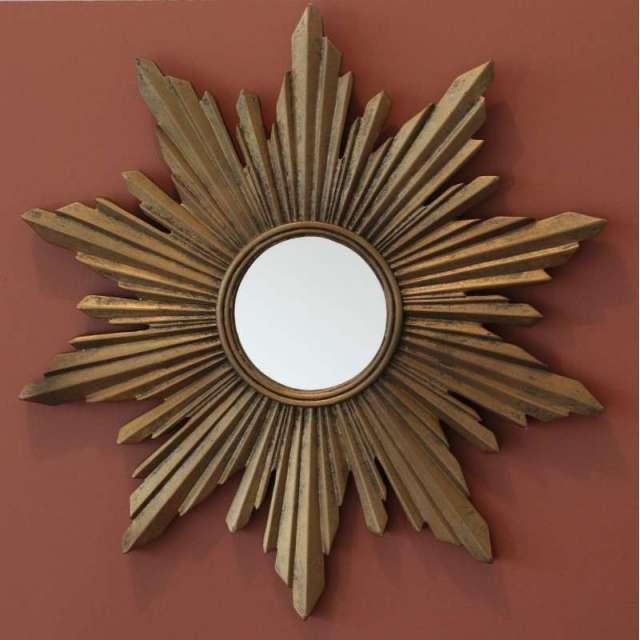 Miroir Soleil doré Vintage