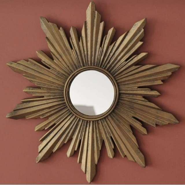 Miroir Soleil doré Vintage chehoma