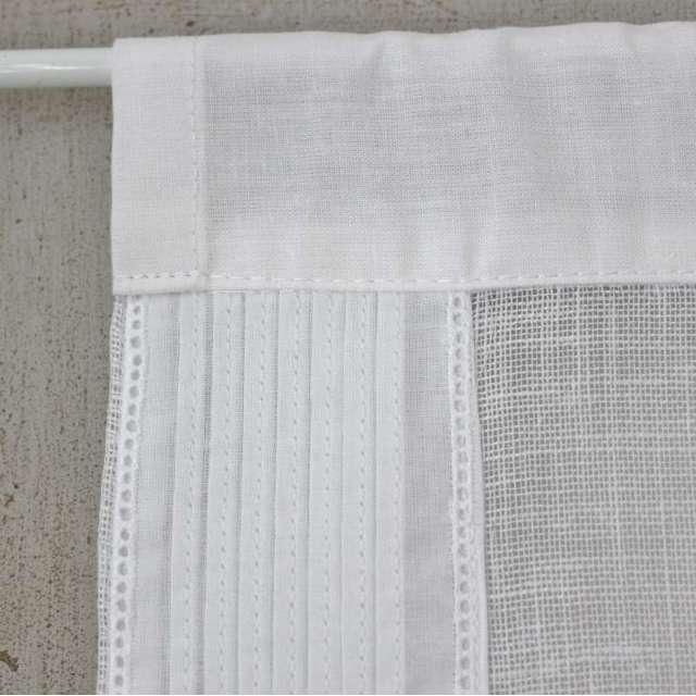 Brise-Bise Lin et coton Blanc