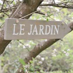Plaque en Bois Déco Jardin