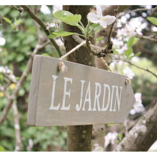check-out afb53 55592 La Plaque en Bois Le Jardin pour décorer votre extérieur de ...