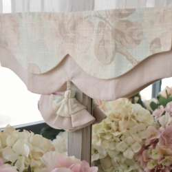 Brise-Bise Fleuri Rose Ambiance Shabby