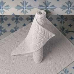 Tapis de Salle de Bain Blanc style hammam