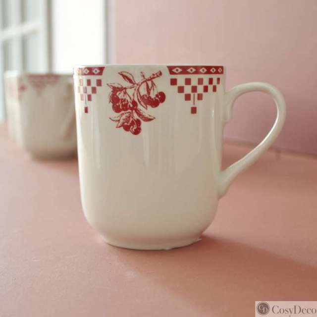 Mug Comptoir de Famille Damier Rouge