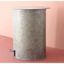 Poubelle zinc style rétro