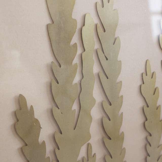 Tableau décor Fougère tropicale Dorée
