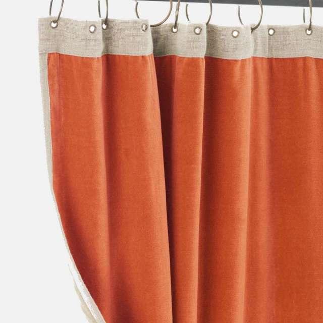 Rideau Occultant Velours Orange