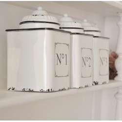 Série de Pots métal émaillés cuisine Rétro chic