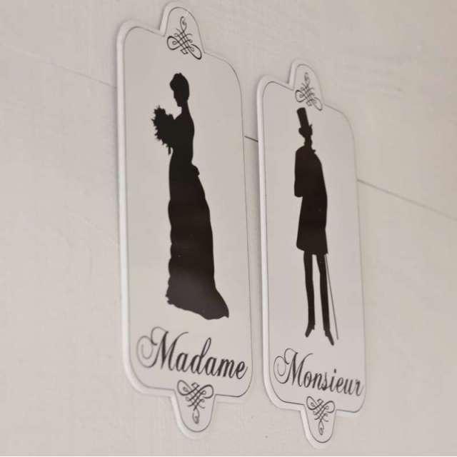 plaque toilettes silhouettes retro