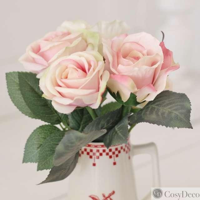 Bouquets de roses anciennes artificielles romantiques