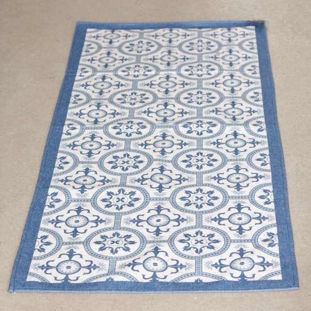 Tapis Cosy Carreaux ciment bleu Lavable en Machine